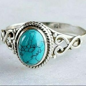 Jewelry - GENUINE TURQUOISE & .925 STERLING SILVER RING